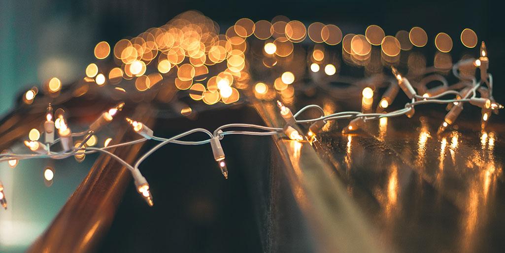 Luzes de Natal para organizar