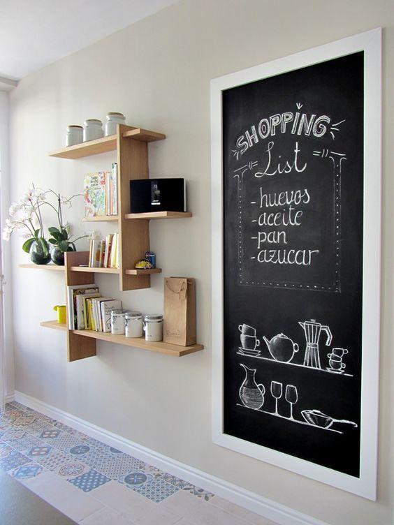 Área de Ardósia na Cozinha