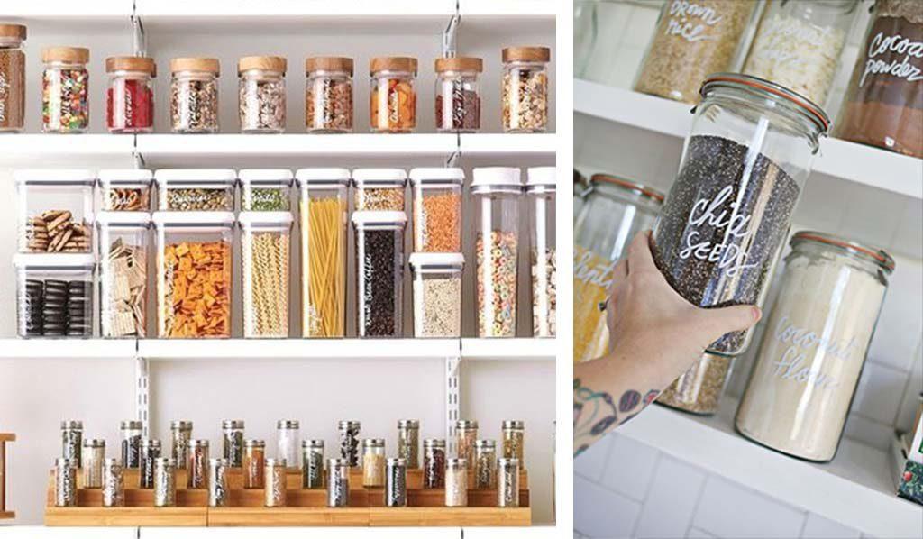 Frascos e Potes para Organizar a Cozinha