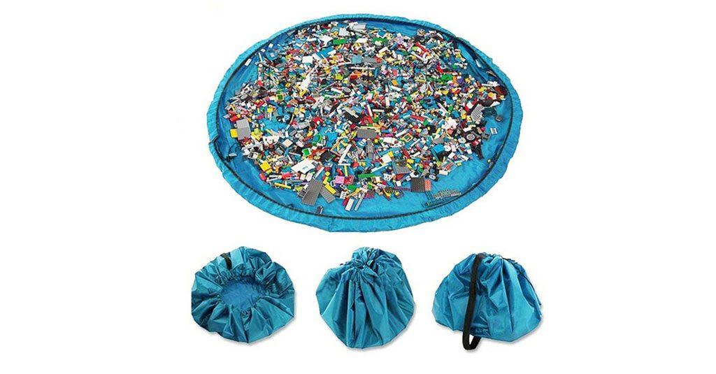 Bolsa organizadora para legos ou puzzles
