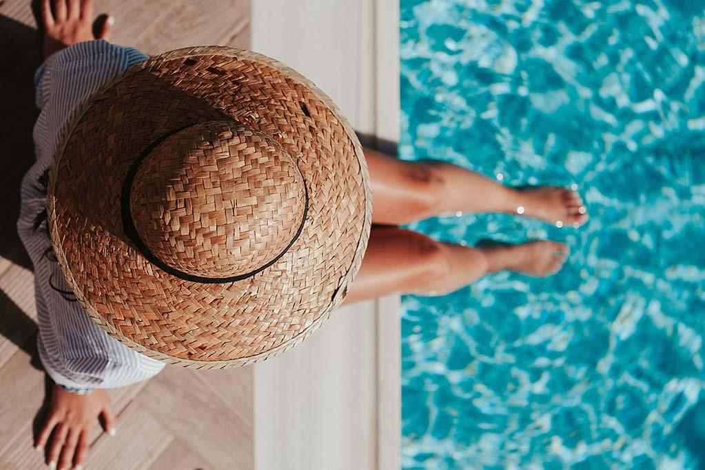 Férias na piscina