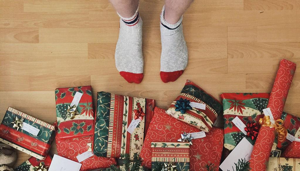Presentes na árvore de Natal