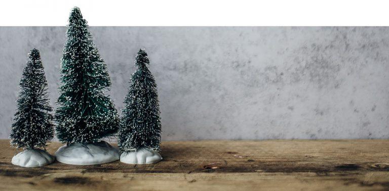3 Pequenas árvores de Natal