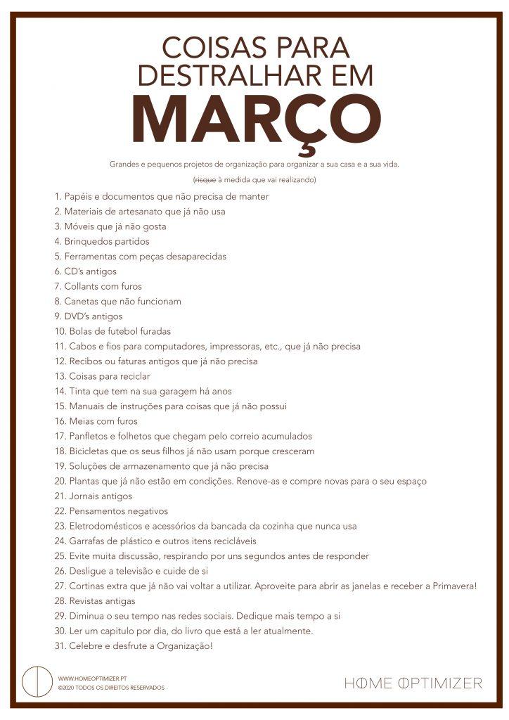 Checklist de Março 2020