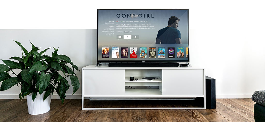TV na sala de estar