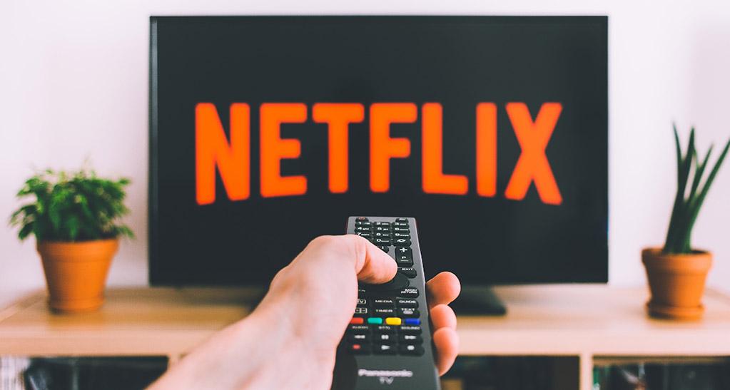 TV com a aplicação Netflix
